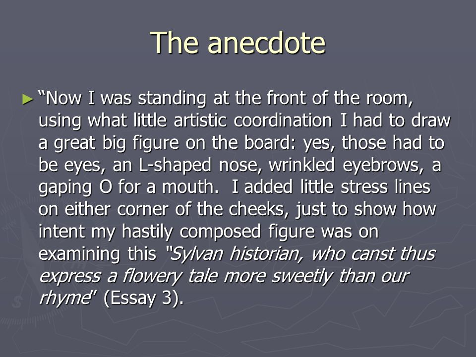 Using an anecdote for my essay?