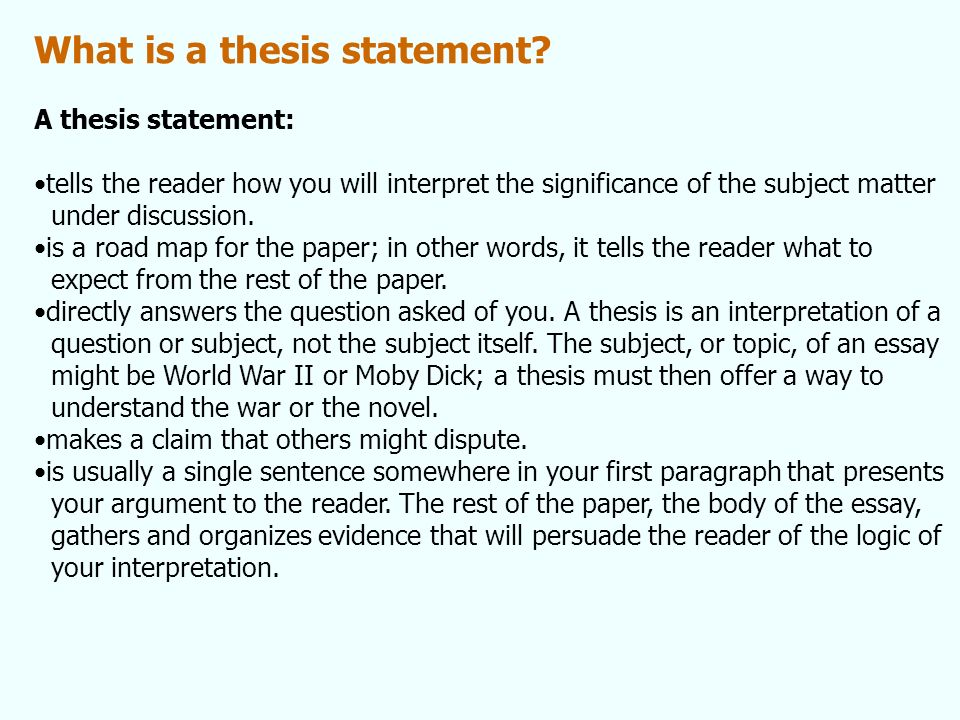 find thesis subject