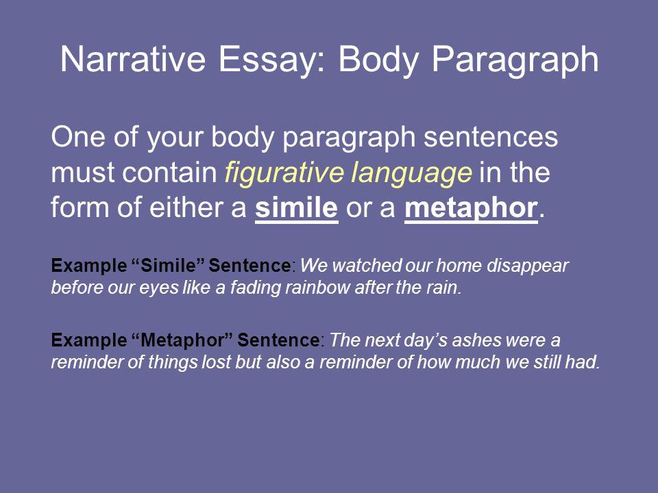 narrative essay model