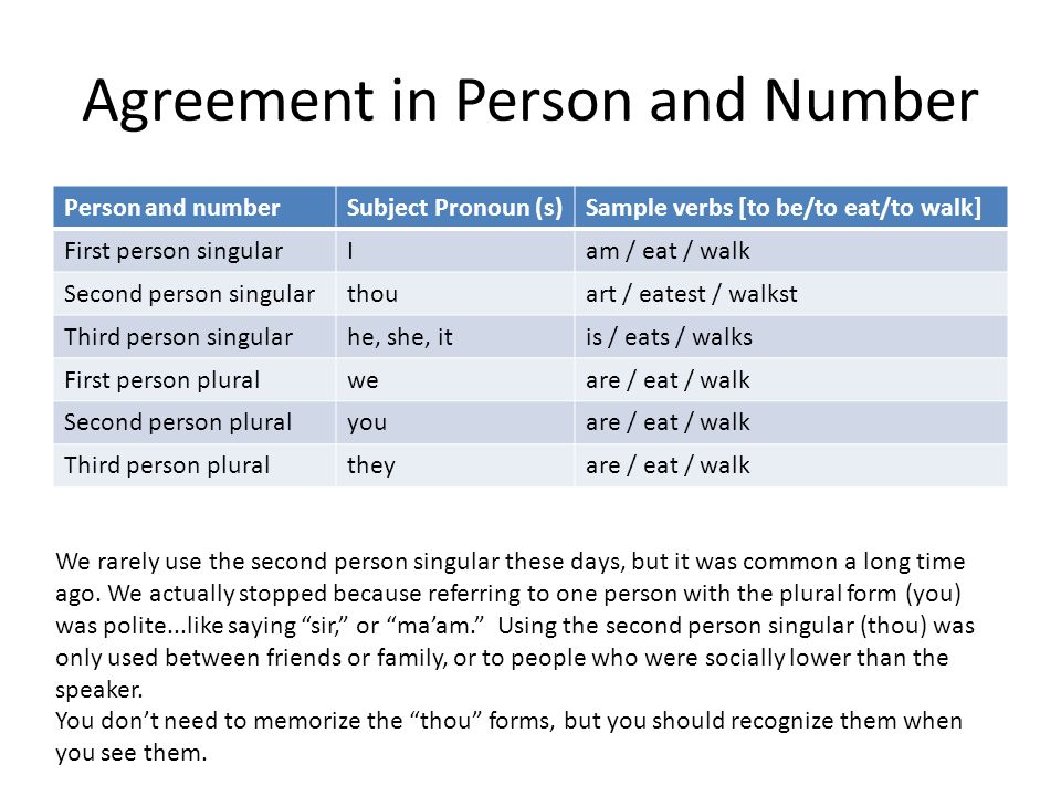 Grammar for grade 9 episode vi subject verb agreement ppt download 3 agreement in person and number platinumwayz