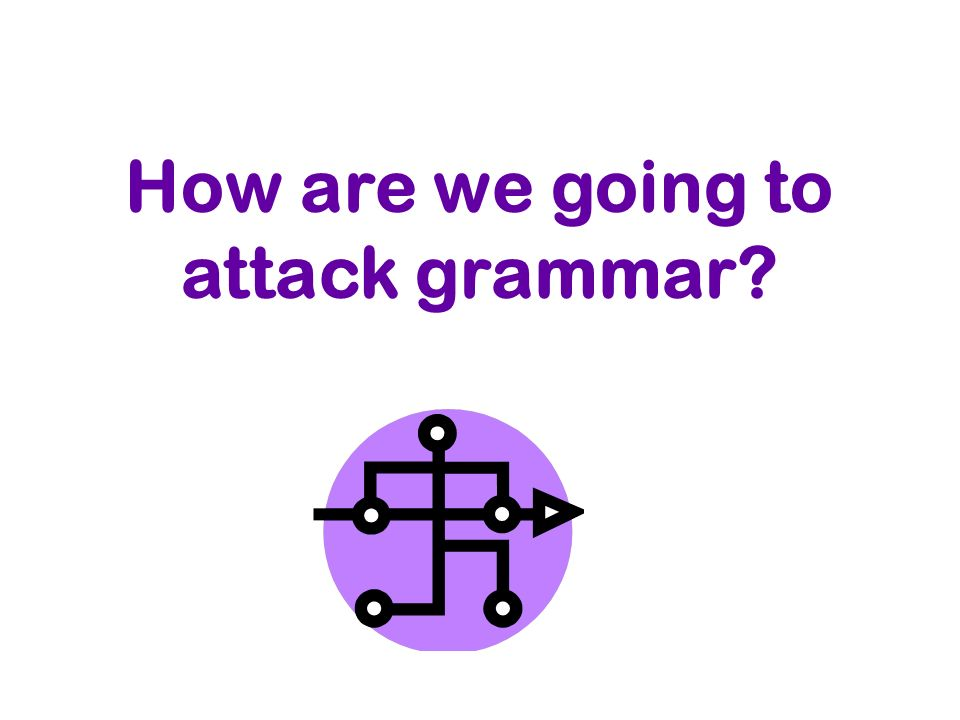 How are we going to attack grammar