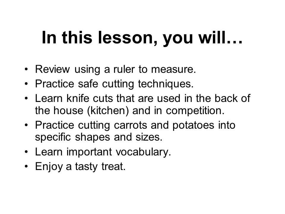 In this lesson, you will… Review using a ruler to measure.