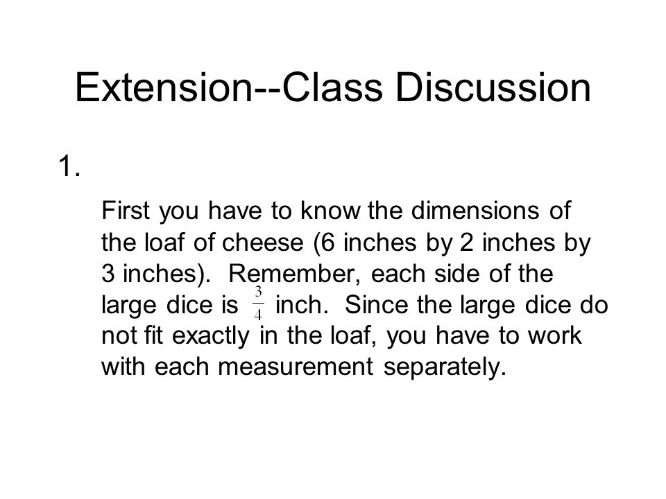 Extension--Class Discussion 1.
