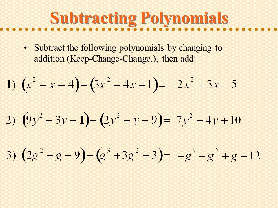Polynomials Defining Polynomials Adding Like Terms ppt download – Addition of Polynomials Worksheet