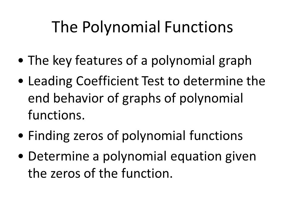 What is the leading coefficient of a polynomial?
