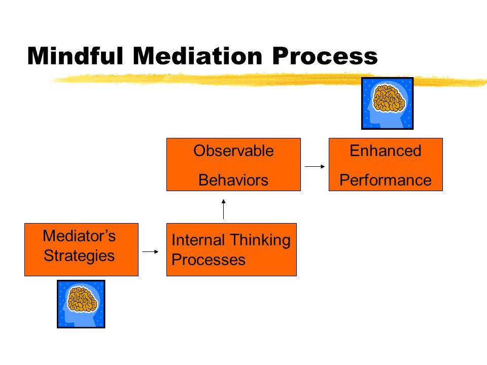 Mindful Mediation Process Mediator's Strategies Internal Thinking Processes Observable Behaviors Enhanced Performance