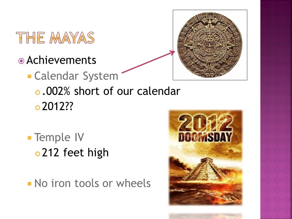  Achievements  Calendar System.002% short of our calendar