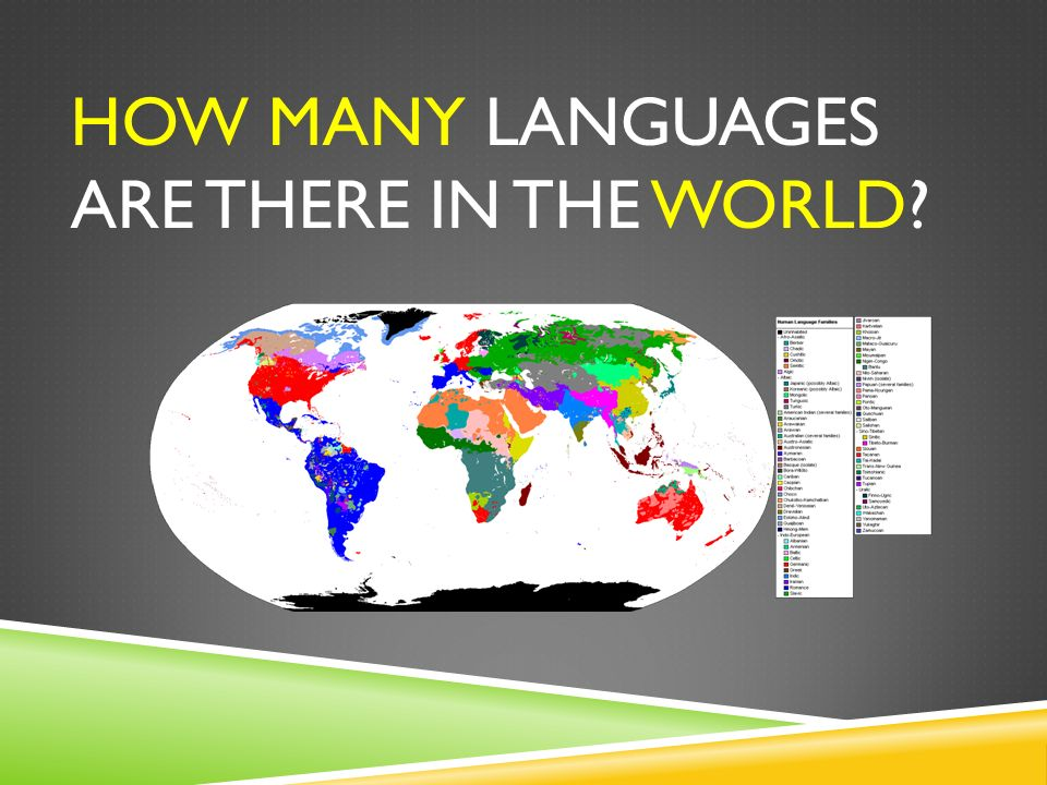 WHAT IS LINGUISTICS LINGUISTICS IS THE SCIENTIFIC STUDY OF HUMAN - How many languages on earth