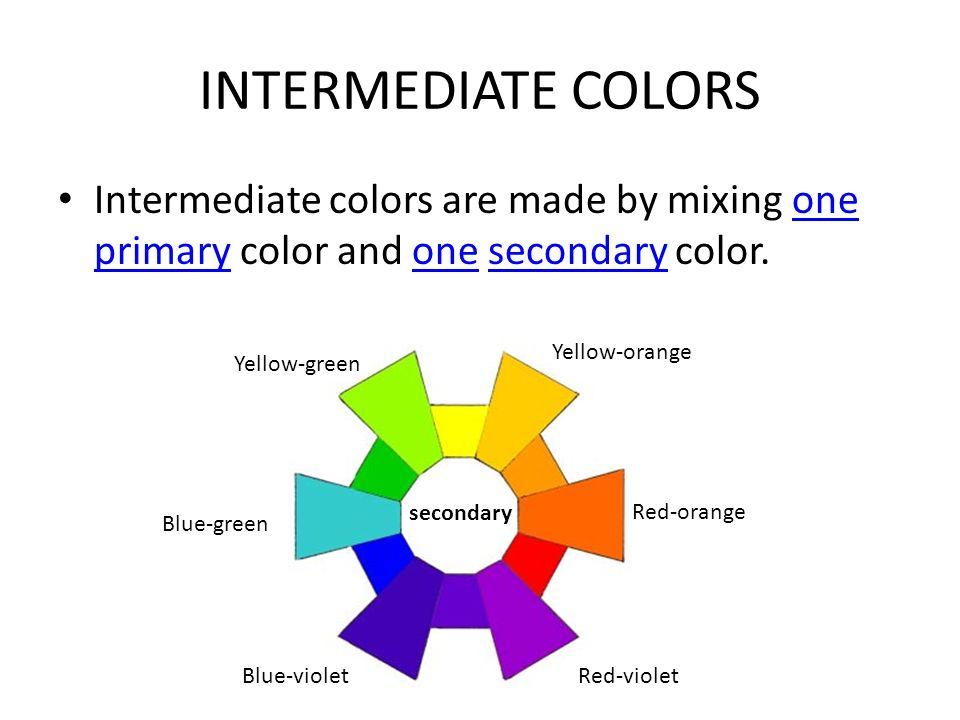 7 INTERMEDIATE COLORS Intermediate