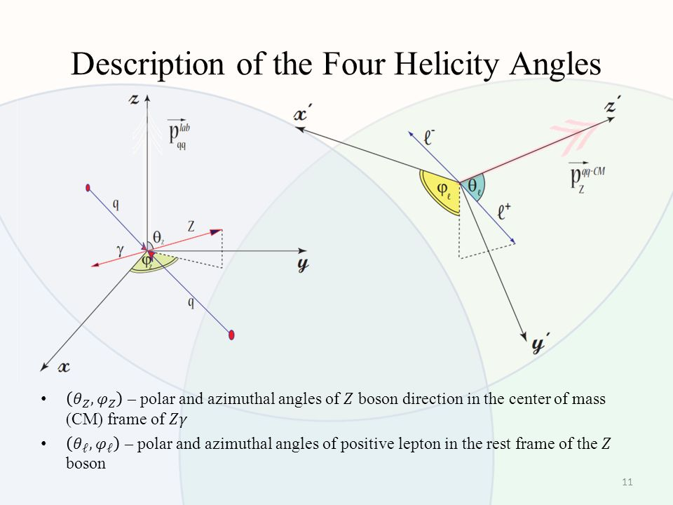 Description of the Four Helicity Angles 11