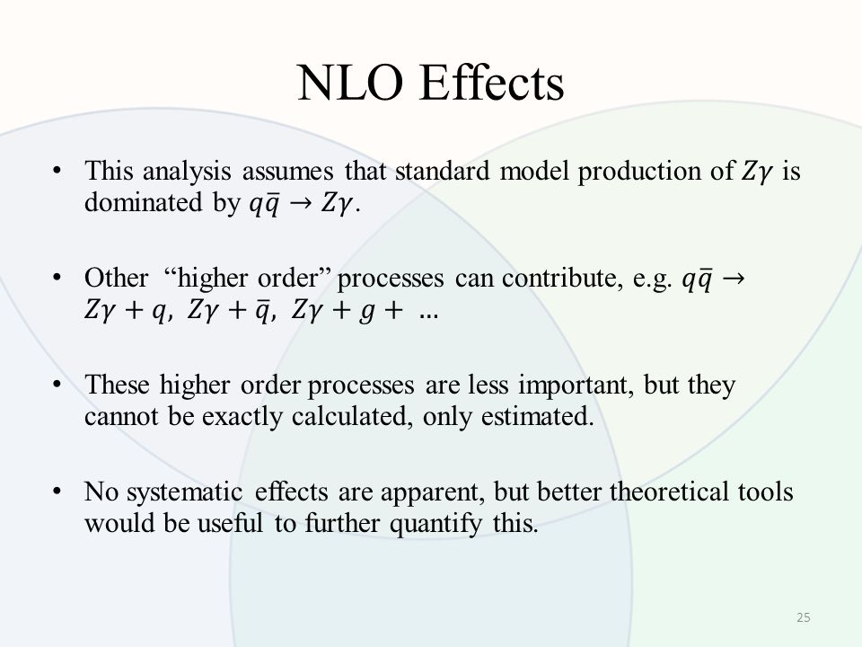 NLO Effects 25