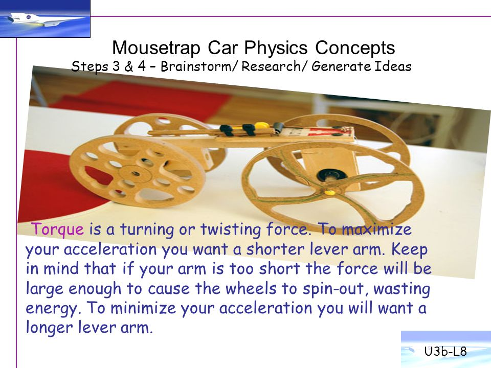 Mousetrap Car Physics Best Car 2017