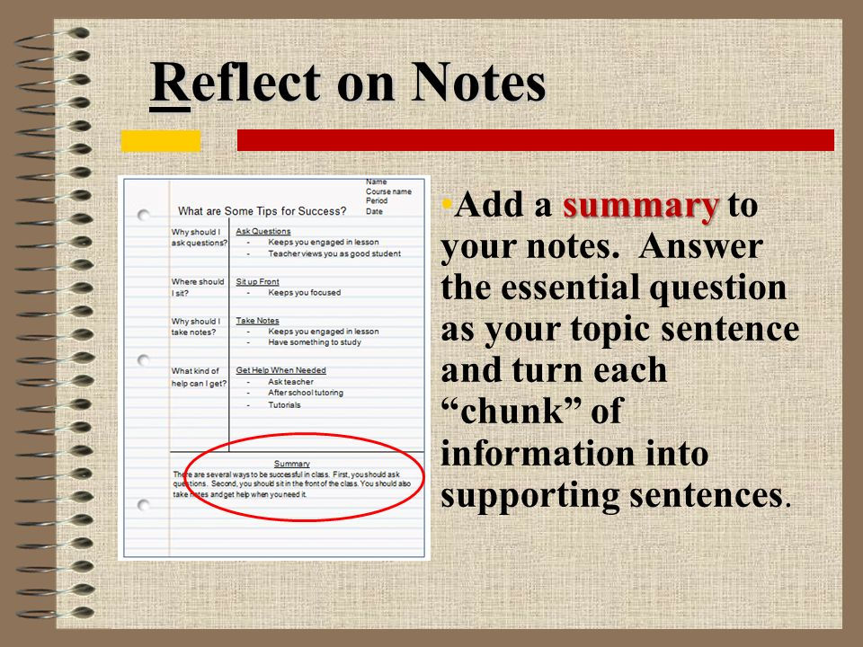 Reflect on Notes summaryAdd a summary to your notes.