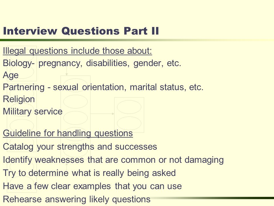 8 Interview Questions Part II Illegal ...