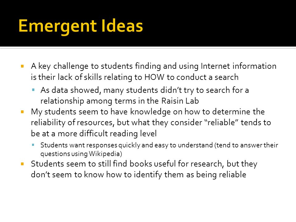  What is the research background that students have before eighth grade.