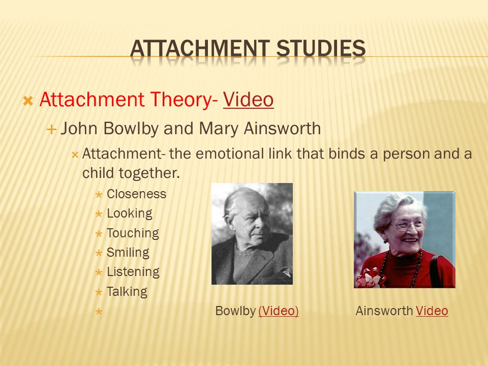 attachment theory bowlby