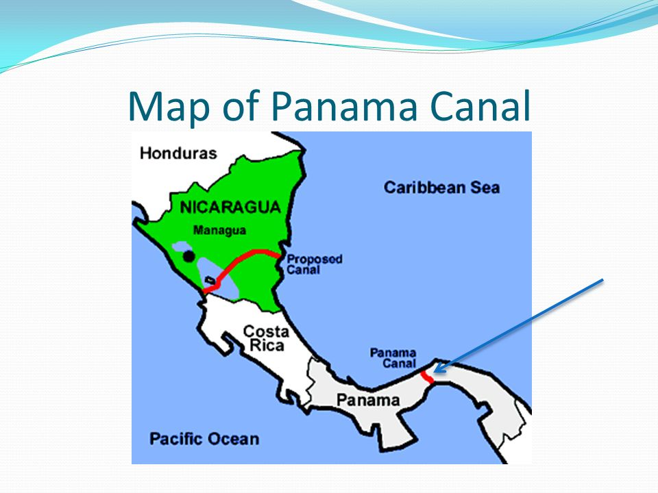 Map Of Isthmus Of Panama. A Route To Cross Panama By Canoe ...