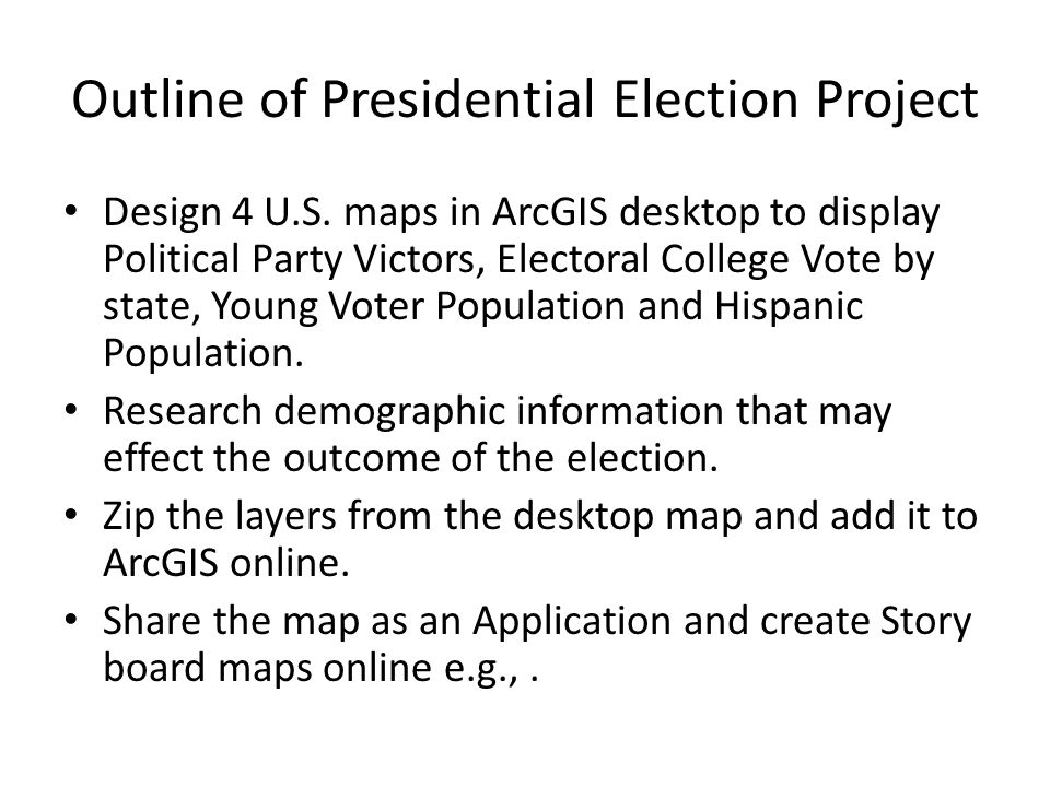 2 Outline Of Presidential Election Project Design 4 U S Maps