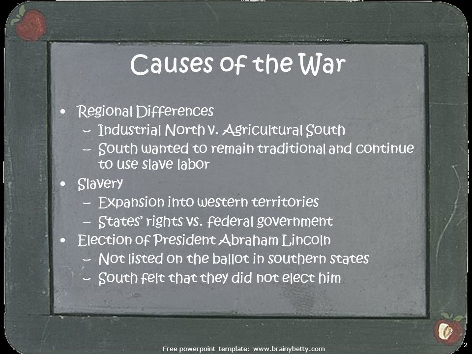 unit 3: the civil war & reconstruction causes of the civil war, Powerpoint templates