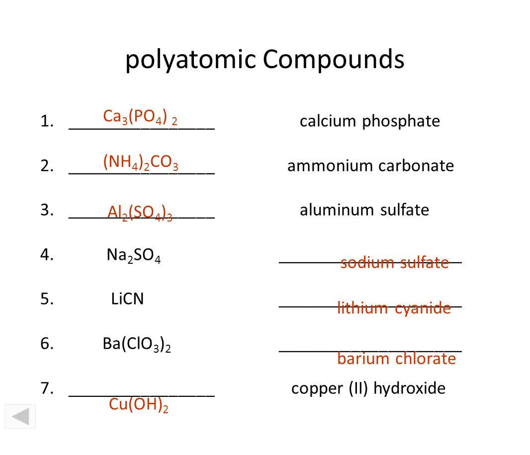 Ch 7 chemical bonds chemistry i why atoms combine ppt 81 polyatomic gamestrikefo Gallery
