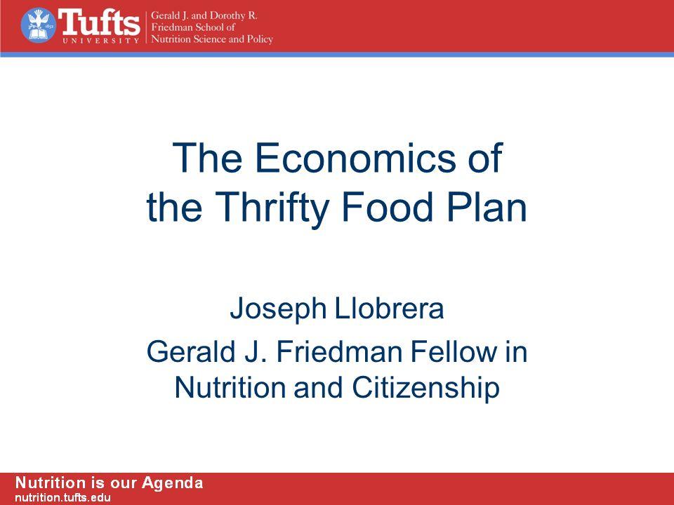 The Economics of the Thrifty Food Plan Joseph Llobrera Gerald J.