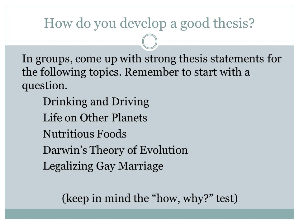 2009dbq question and thesis It is therefore the answer to the question being asked as such, the thesis statement is not a fact (1990 dbq) types of thesis statements: 1 12/8/2009 7:31.