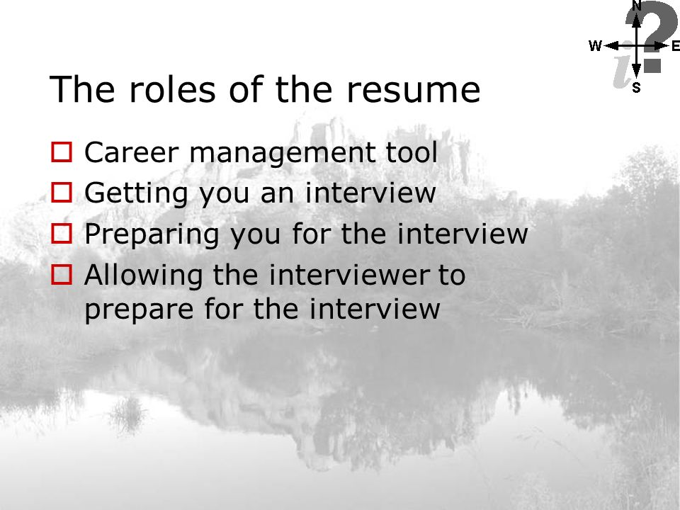 how to prepare your resume the roles of the resume the
