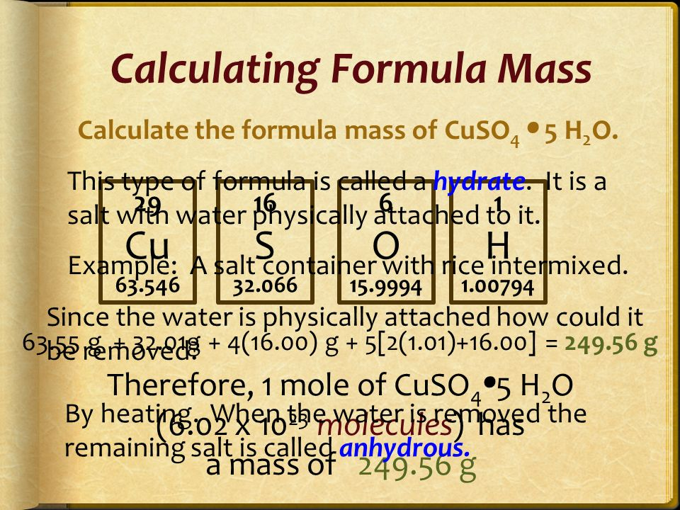 Percent Composition Calculations Chemistry Tutorial