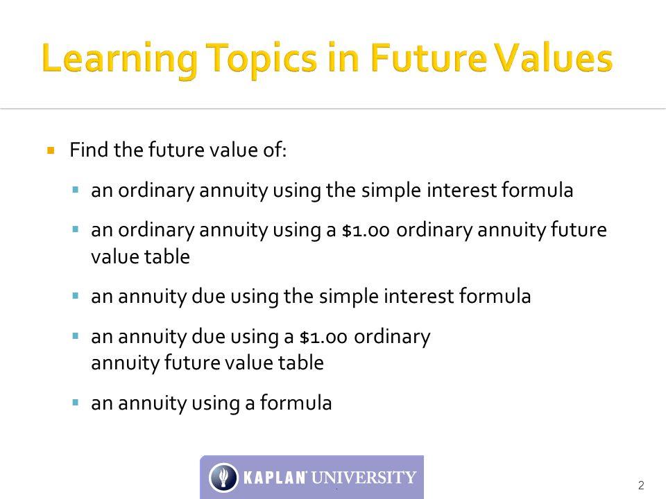 annuity due formula