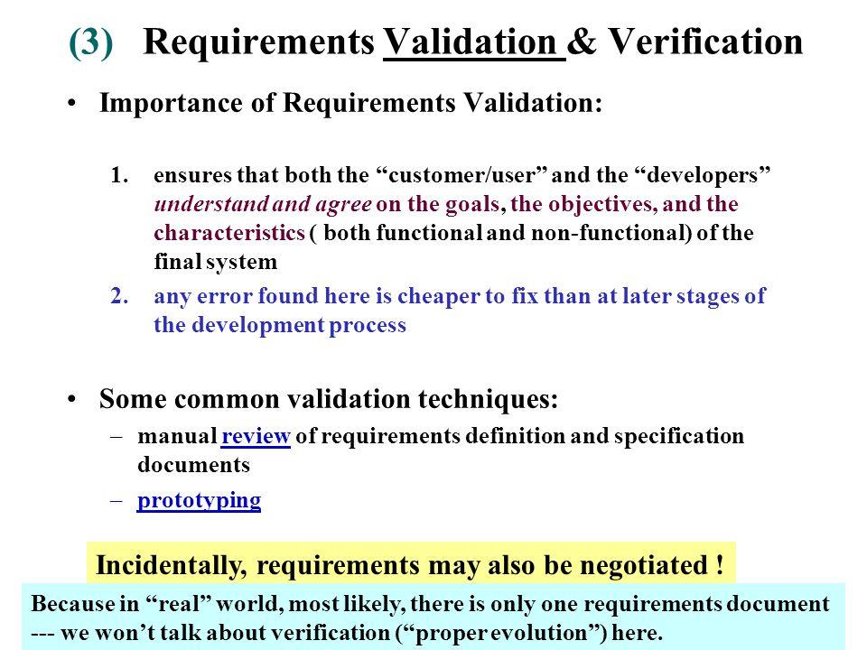 Negotiating and validating requirements