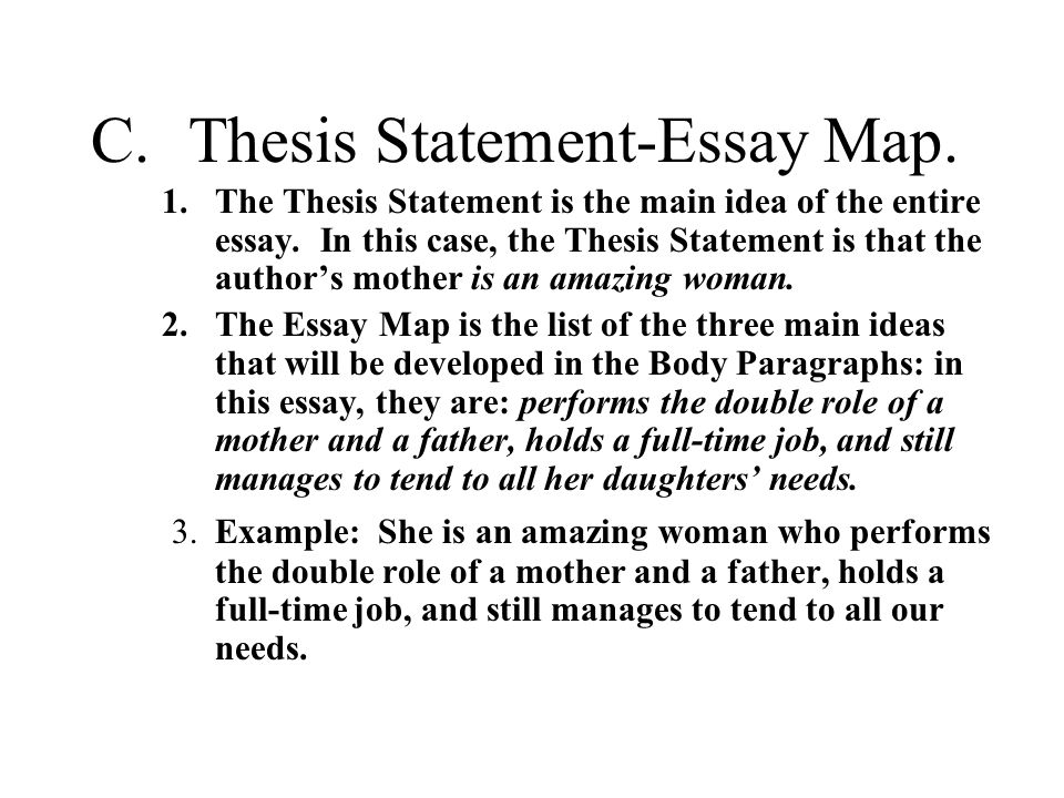 Sample Of An Expository Essay Cthesis Statementessay Map The Thesis Statement Is The Main Evidence Based Practice In Nursing Essay also Parliamentary Sovereignty Essay The Traditional Five  Paragraph Essay The Three Main Parts  The Red Badge Of Courage Essay