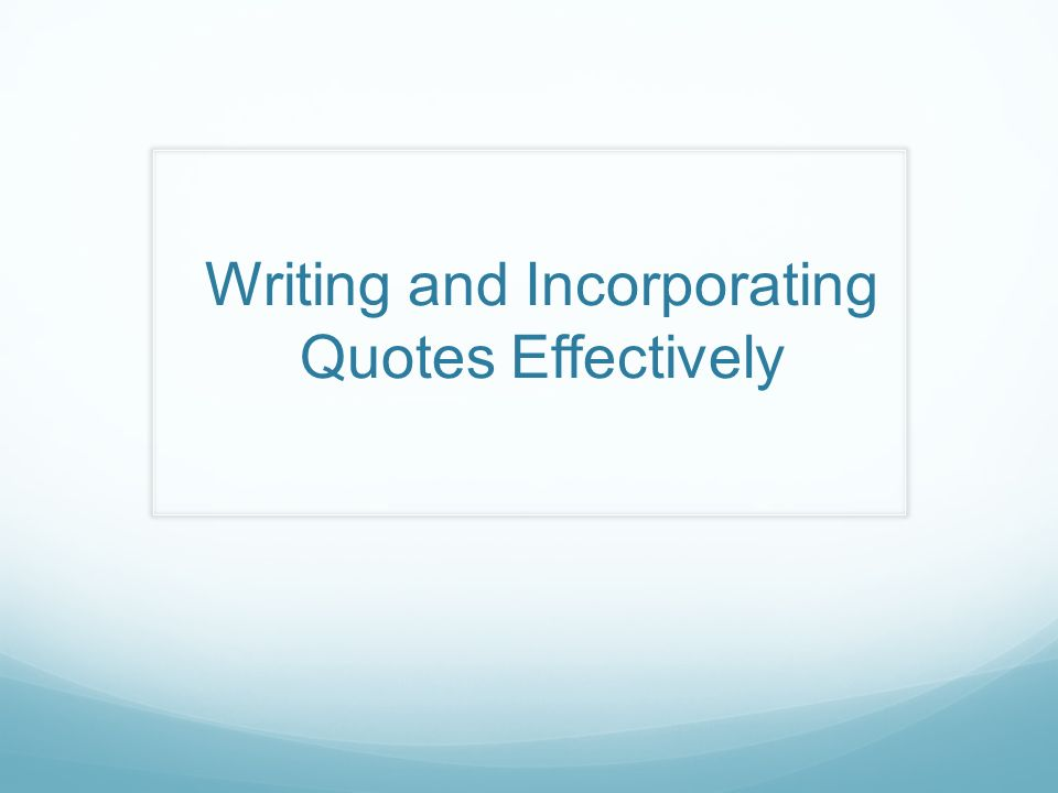 Essay writing from a quote?