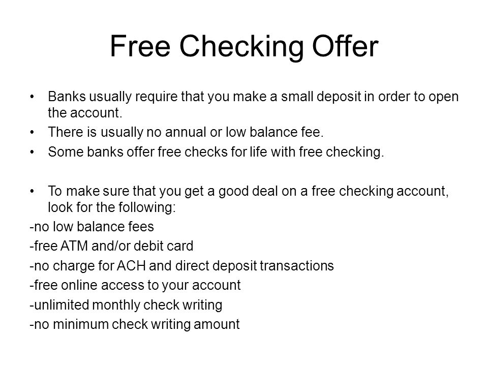 Checking Accounts  What is a checking account? A bank
