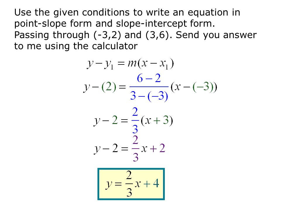 Write An Equation Of A Line Given Two Points And Slope - Jennarocca
