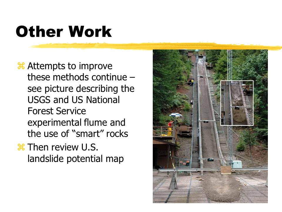 Other Work Zattempts To Improve These Methods Continue See Picture Describing The Usgs And Us