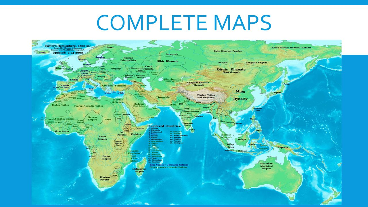 COMPLETE MAPS