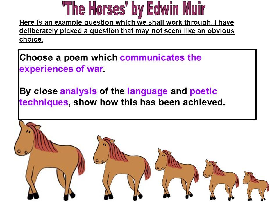 analysis of edwin muir s the horses
