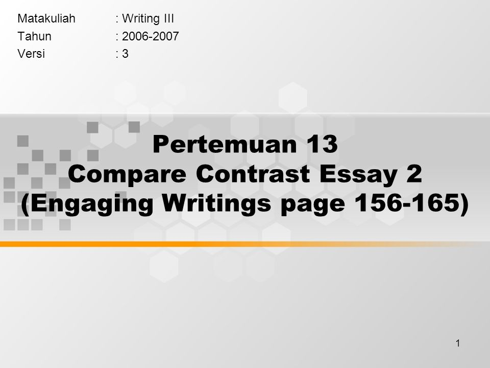 How to write an conclusion for a compare and contrast essay