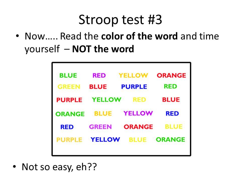 Information for a Stroop Effect essay?