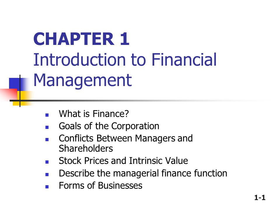 describe the goals of financial management • describe, in general terms chapter 1: introduction to healthcare financial management 5 the specific goals of financial management depend on.