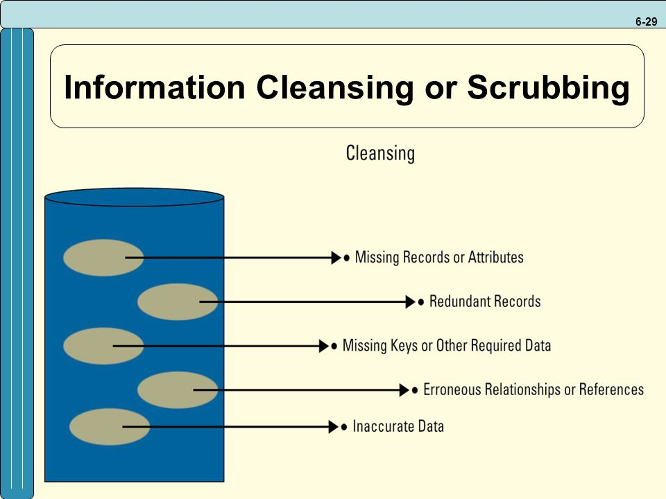6-29 Information Cleansing or Scrubbing