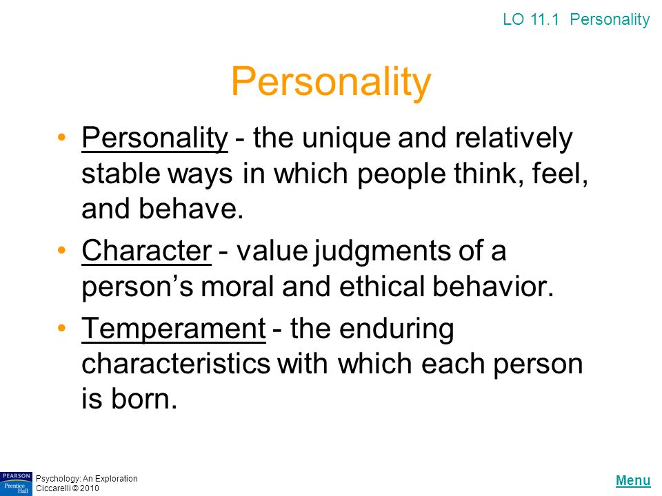 psychology and personality essay