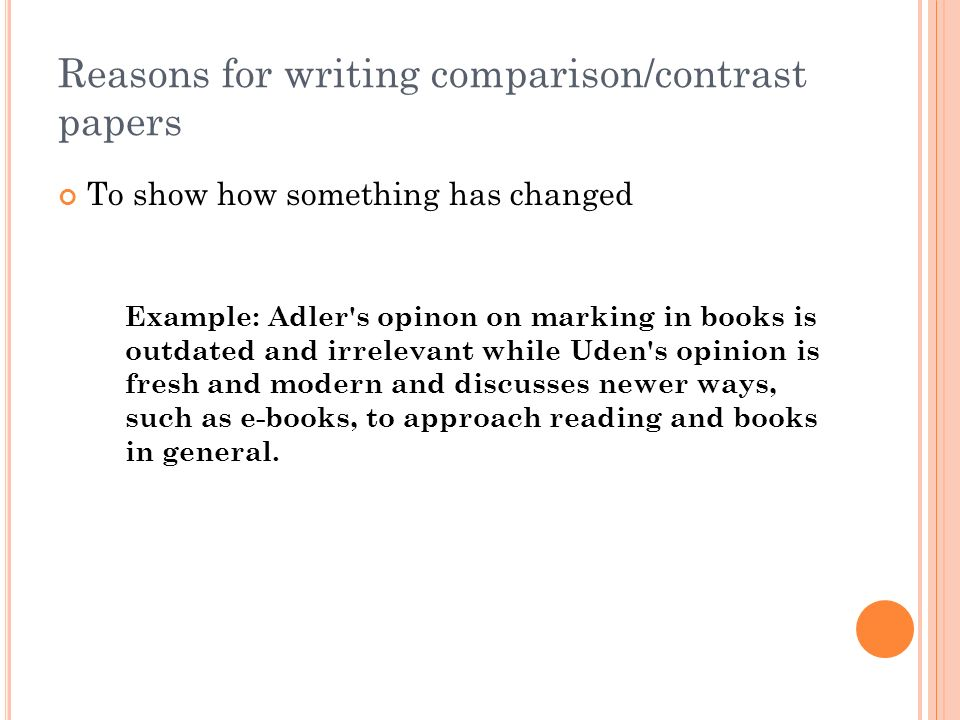 Comparison Contrast Essay Example Paper