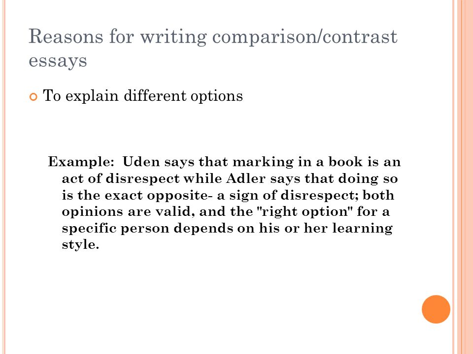 How to write a good compare and contrast essay on two books.?
