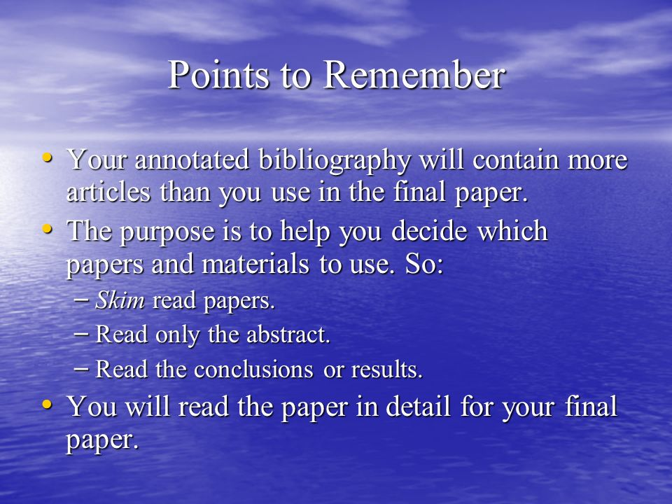 Annotated Bibliography Writers Service
