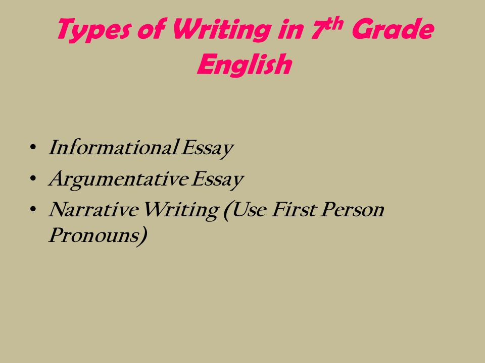 types of essay writing in english