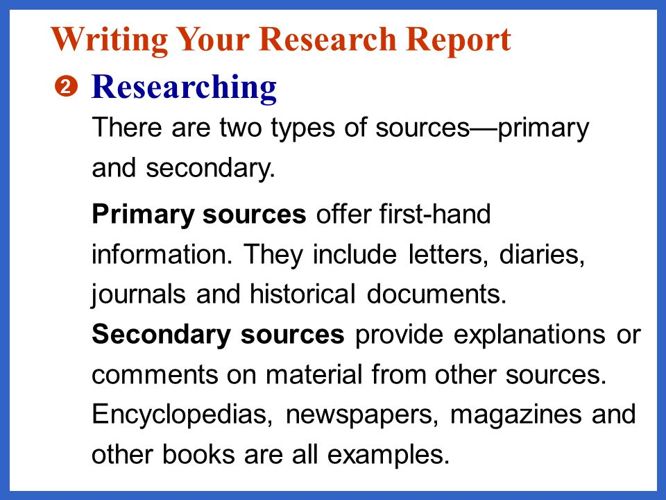 Use the questions that you have written about your topic to guide your research.
