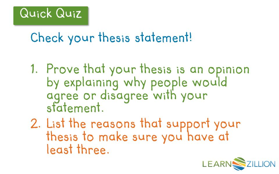 explain thesis statement middle school Thesis statement the summary sentence that supports your opinions and ideas the last sentence in the introduction paragraph why should your essay contain a thesis statement.