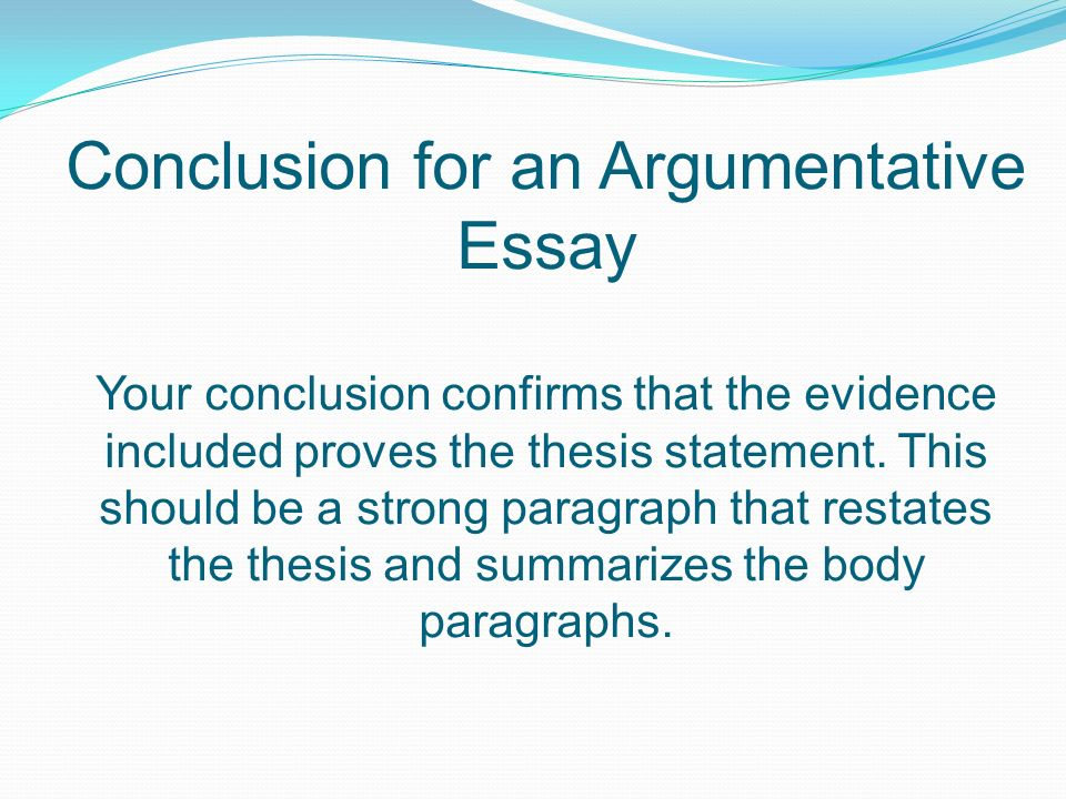 argumentative essay standard elaccw what is it an essay that  8 conclusion