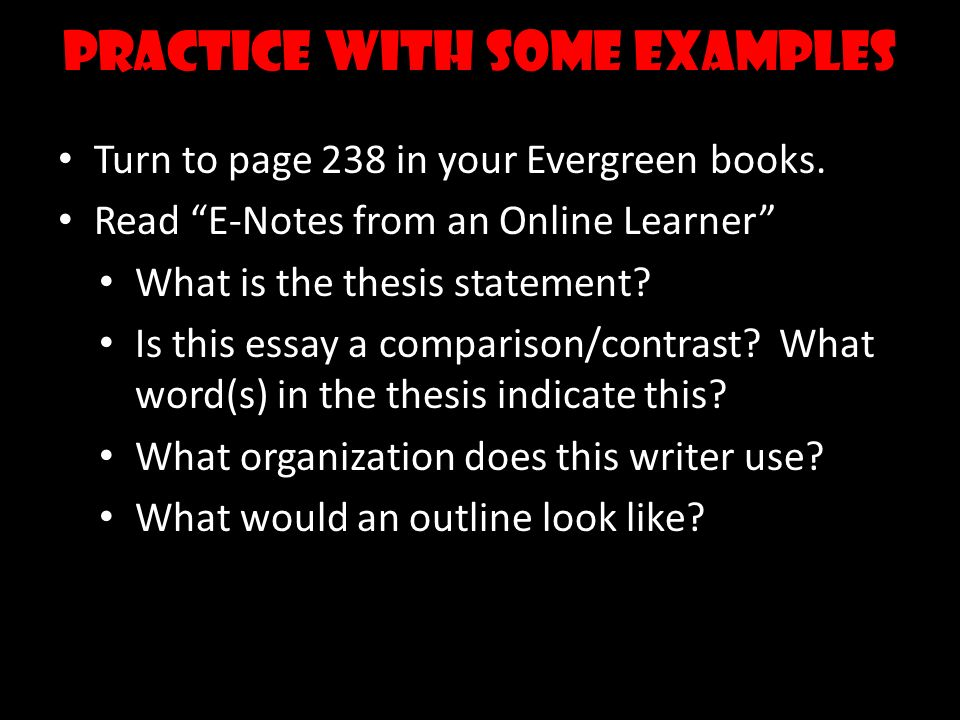 example of compare and contrast essay outline